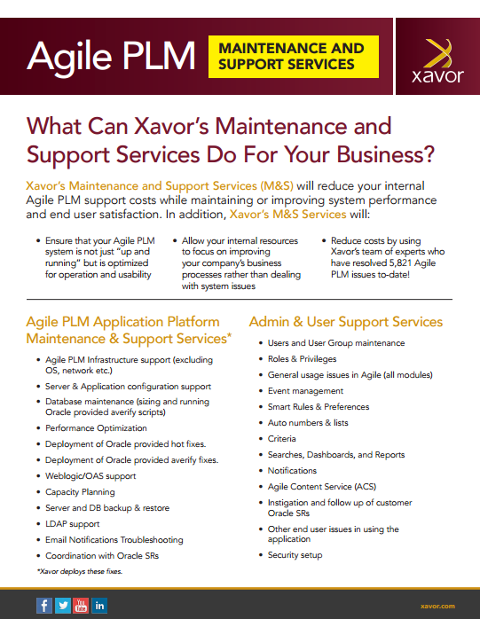 Maintenance and support